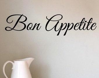 Vinyl Wall Decal Bon Appetite Vinyl Letters Thanksgiving Wall Art Vinyl Sign Living Room Kitchen Decor Sticker Fall Decor Gift for Her