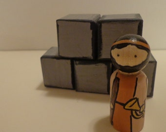 Joshua and the Walls of Jericho Characters of the Bible Peg Doll