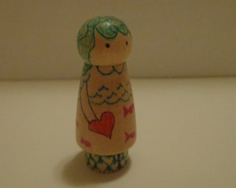Heart Hug Child: Marina Peg Doll