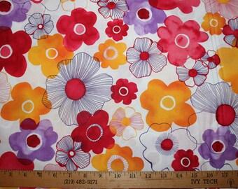 Robert Kaufman cotton woven fabric, Petal,  1/2 yd