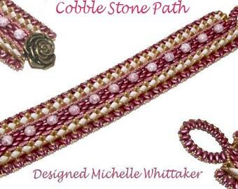 Cobble Stone Path Needlework Bracelet Tutorial PDF