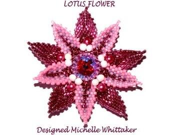 Lotus Flower & Pentagon Bezel Needlework Tutorial PDF
