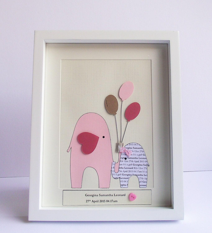 Homemade Baby Gifts Uk : Personalised new baby girl gift handmade by