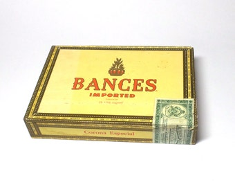 Vintage Bances Cigar Box