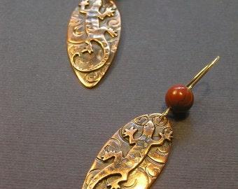 copper-silver earrings Tisart