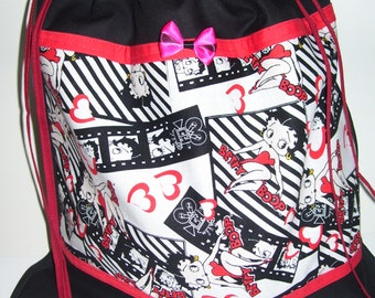 LOVELY CARRYING BAGS - black & red betty boop design.