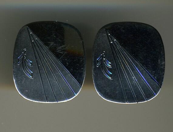 Vintage-Sterling Silver-Hallmarked-By Mr. X-MOD Design-Cuff Links-Cufflinks