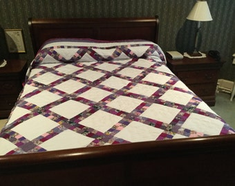 Handmade and hand quilted quilt