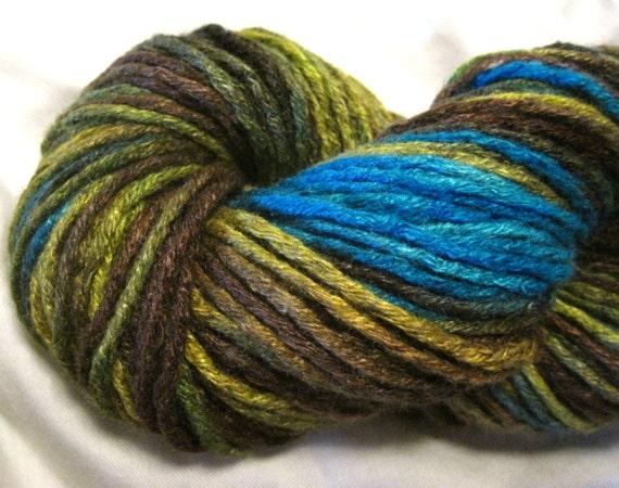 free yarn, luxury yarn, recycled silk yarn, 121 yds, hand dyed yarn ...