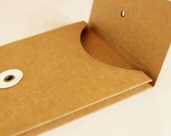 kraft evenlope with sticker for midori traveller's notebook regular size