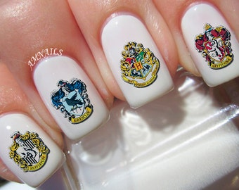 40 Harry Potter Crests Nail Decals