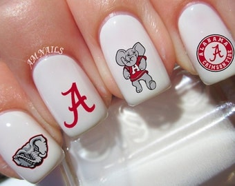 Alabama Crimson Tide Nail Decals