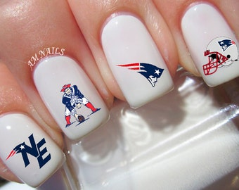 New England Patriots Nail Decals