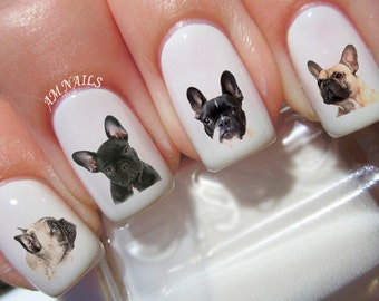 54 French Bulldog Nail Decals