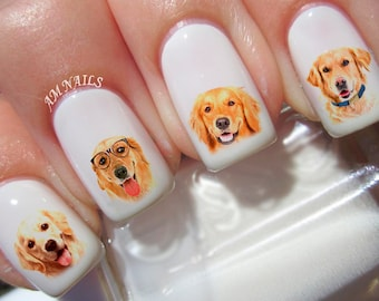 60 Golden Retriever Nail Decals