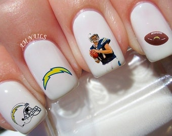 San Diego Chargers Nail Decals