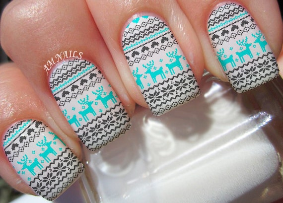 Christmas Sweater Nail Decals
