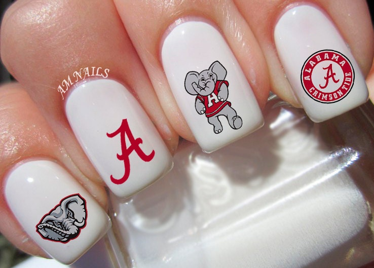 Details. Alabama Crimson Tide nail ... - Alabama Crimson Tide Nail Decals