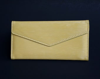 Womens Wallet, Leather Wallet, Yellow Wallet, Yellow Purse, Yellow Leather Purse, Yellow Leather Wallet.