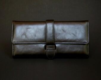 Womens Wallet, Leather Wallet, Black Wallet, Black Purse, Black Leather Wallet, Black Leather Purse