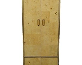 """HENEREDON Scene Two Collection 26"""" Burled Olive Clothing Armoire 05-9600"""