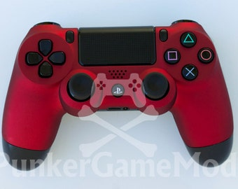 Metallic matte red PS4 controller