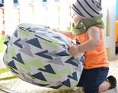 Kiwi Triangles Floor Cushion Toddler Pillow Pouf