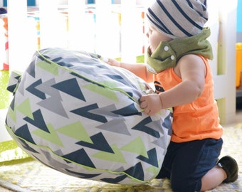 Kiwi Triangles Floor Cushion Toddler Pillow Pouf