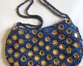 Vintage Beaded Mirrored Handbag