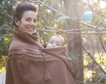 BabyWearing Poncho Fleece | Baby Wearing Poncho | Baby wearing Winter coat