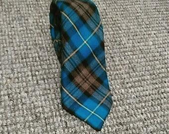 Handmade Royal blue Plaid Necktie