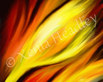 Digital download art  / Printable fine art instant download / print digital file / abstract flower painting