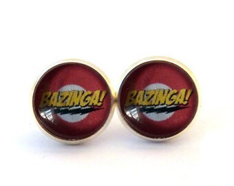 Bazinga! Stud Earrings. Buy THREE get ONE free.