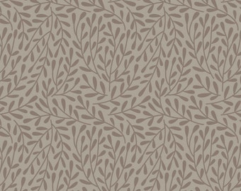 Dancing Vines Grey   Organic Cotton   Cloud9 Fabrics   1 Yard