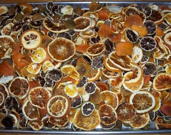 Dried/Dehydrated CITRUS POTPOURRI MIX **lemons**limes**oranges**grapefruit pieces and end chips
