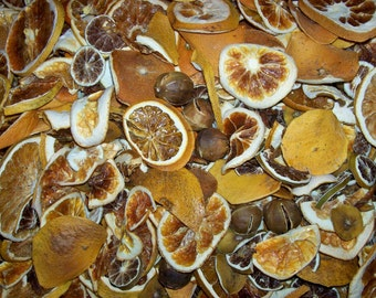 Dried/Dehydrated CITRUS POTPOURRI MIX **limes**key limes**oranges**grapefruit**starfruit pieces and end chips
