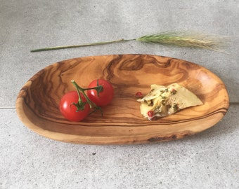 small Olive Wood plate, Rustic tapas, Massive Wood plate, Rustic small Serving Plate,gift, Country home, dip plate, nut plate