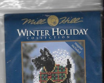 Mill Hill Scottie Dog Glass Bead New Unopened Counted Cross Stitch Kit