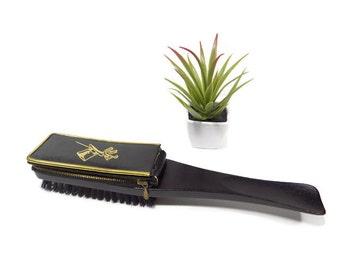 Vintage Men's Grooming Kit Valet, Vintage Shoe Shine Brush, Made in Austria, All in One Grooming Kit, Shoe Shine Brush with Pocket