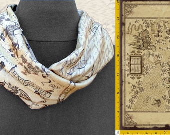 Harry Potter Insp. Infinity Scarf in Wizarding World Map