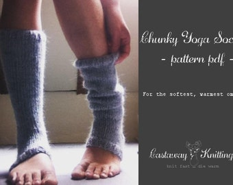 chunky yoga sock/ legwarmer knitting pattern (pattern only)