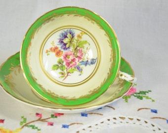 Paragon green tea cup and saucer
