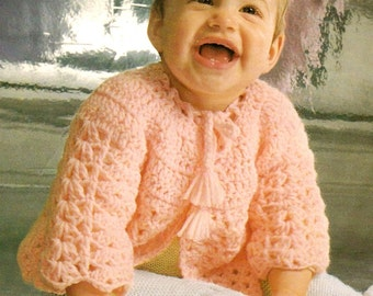 Crochet Pattern Quick One Skein Baby Sweater - PDF Pattern Instant Download - Quickly Made Crocheted Baby Sweater!