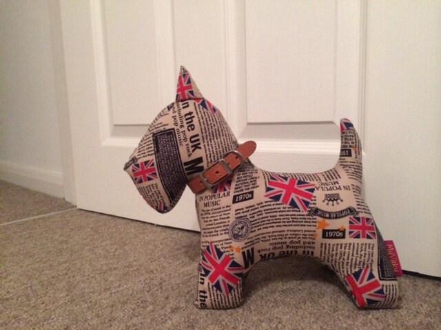 Union jack scotty dog stuffed animal decoration 30cm tall for Decoration murale union jack