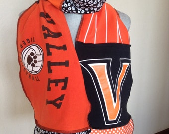 Valley Tigers Volleyball Scarf, Tigers Tshirt Scarf, Valley Scarf, Val5, Valley TIGERS scarf
