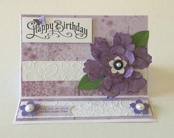 Handmade birthday 'easel' card