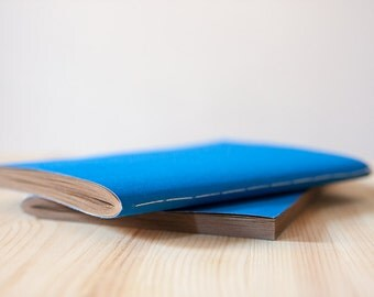 Vivid Blue Softcover Cotton Notebook | Sketchbook | Journal