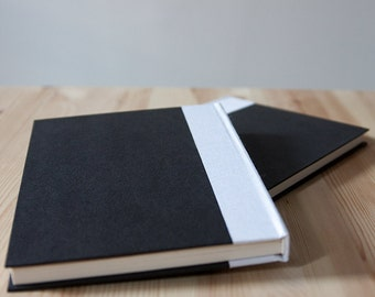 Black and White Hardcover Notebook | Sketchbook | Journal
