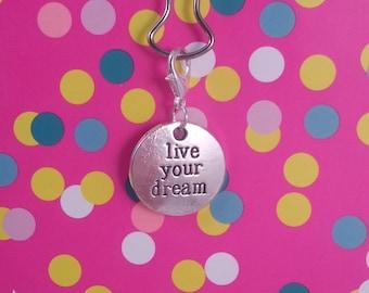 """Silver charm """"live your dream"""" agenda filofax faudori"""