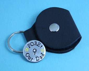"""Personalised Golf Ball Marker With Pocket Keyring 